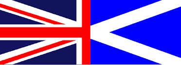 Half Scot Half brit flag