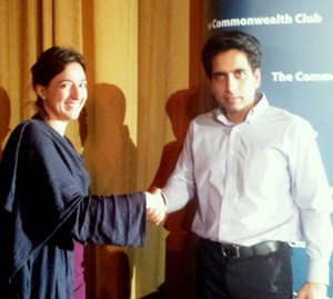 Sal Khan and Sarah Thrift at The Commonwealth Club, San Francisco