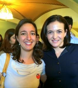Sarah and Sheryl Sandberg